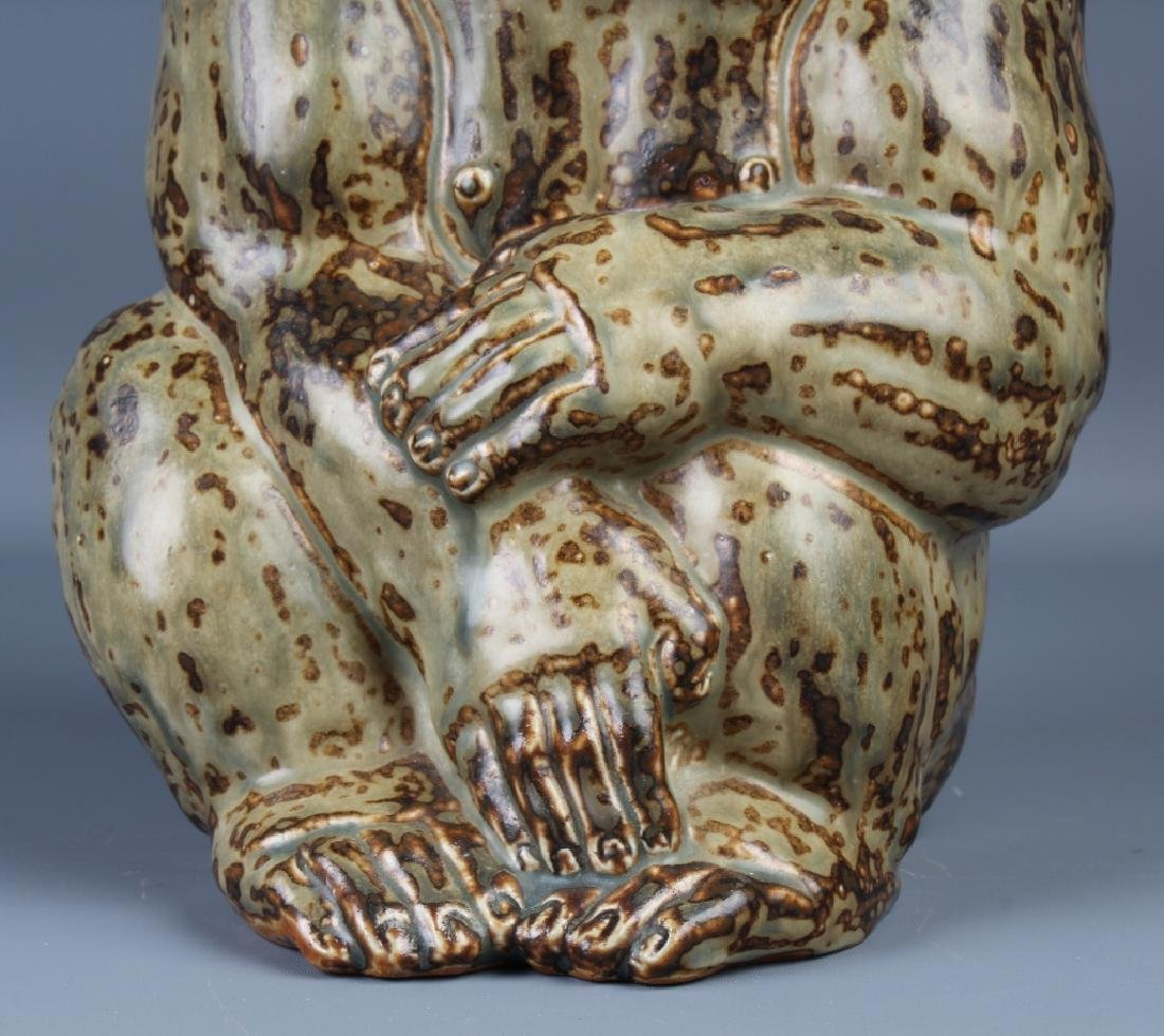 Knud Kyhn Royal Copenhagen Stoneware Gorilla - 3