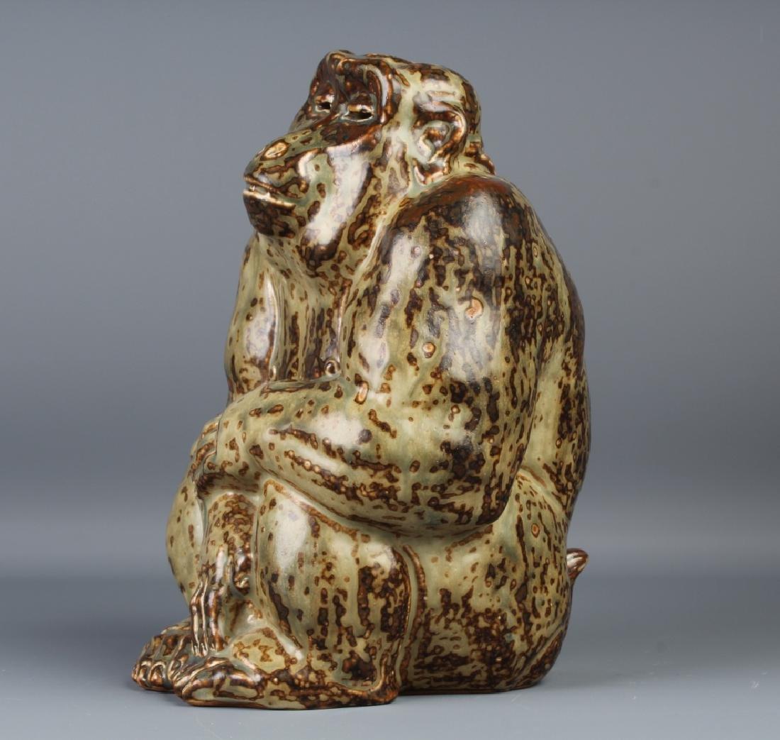 Knud Kyhn Royal Copenhagen Stoneware Gorilla - 4