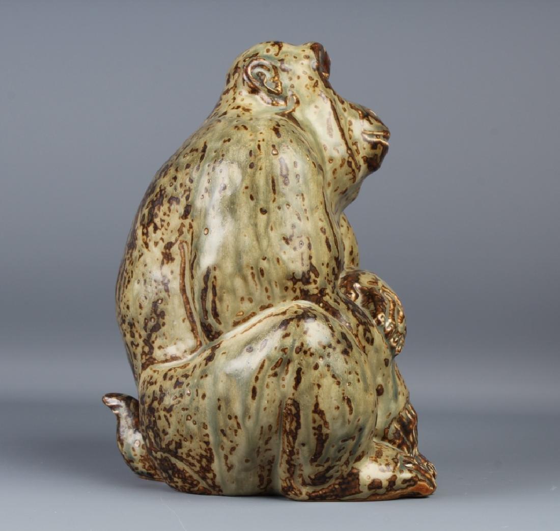 Knud Kyhn Royal Copenhagen Stoneware Gorilla - 6