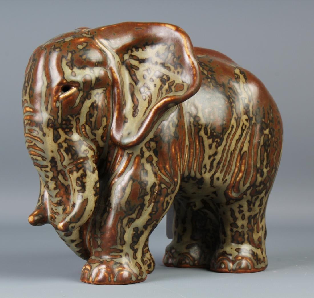Knud Kyhn Royal Copenhagen Stoneware Elephant