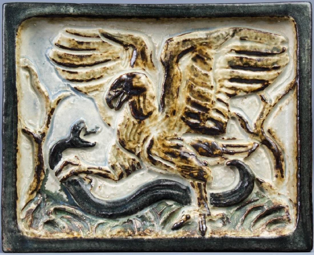 Knud Kyhn Royal Copenhagen Stoneware Eagle Tile