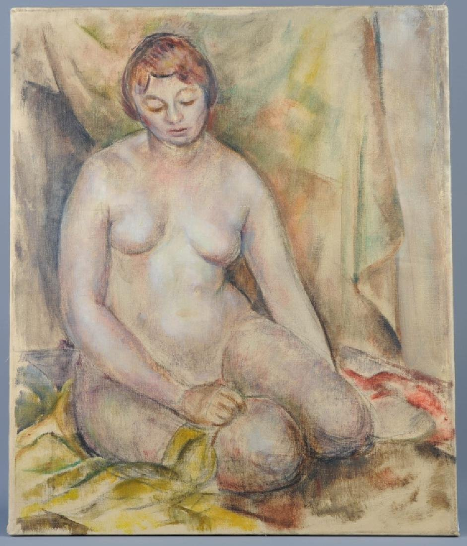 Arnold Blanch Nude Portrait Oil On Painting LISTED
