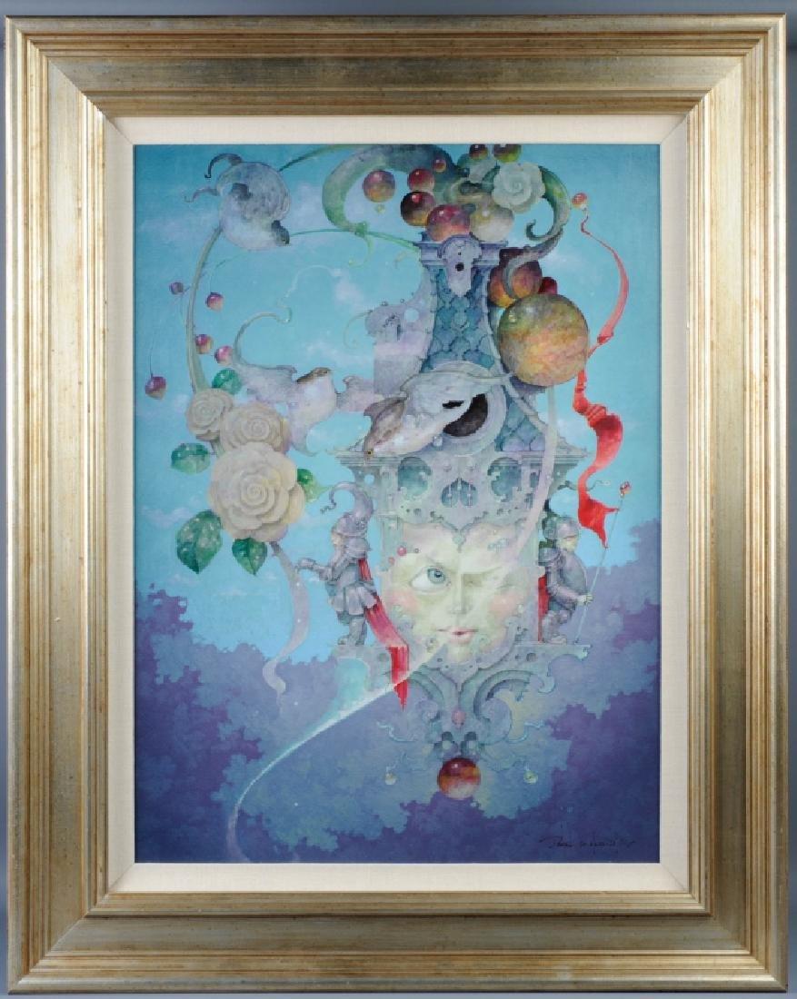 Daniel Merriam Surrealist Fantasy Acrylic Painting