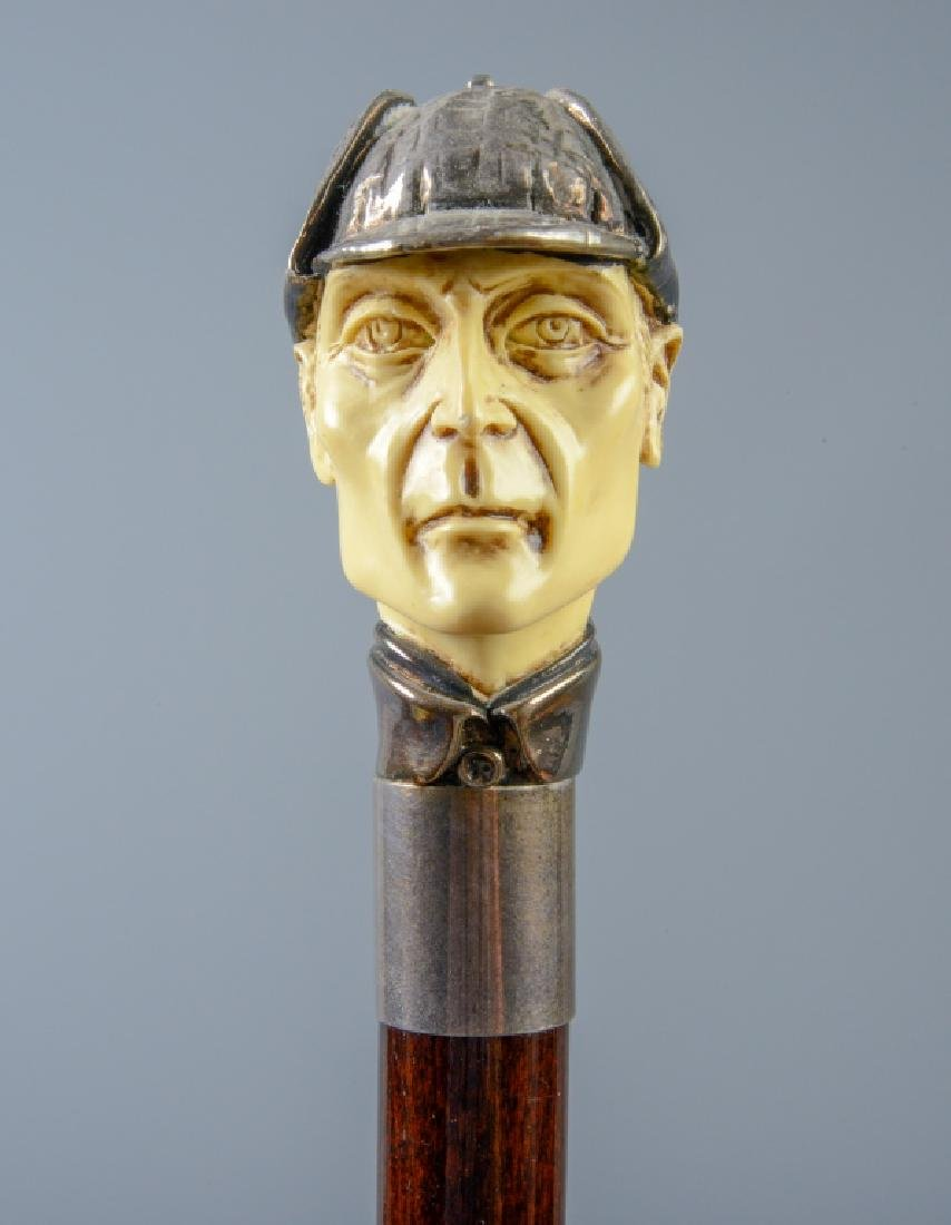 Sterling Silver Sherlock Holmes Walking Stick Cane