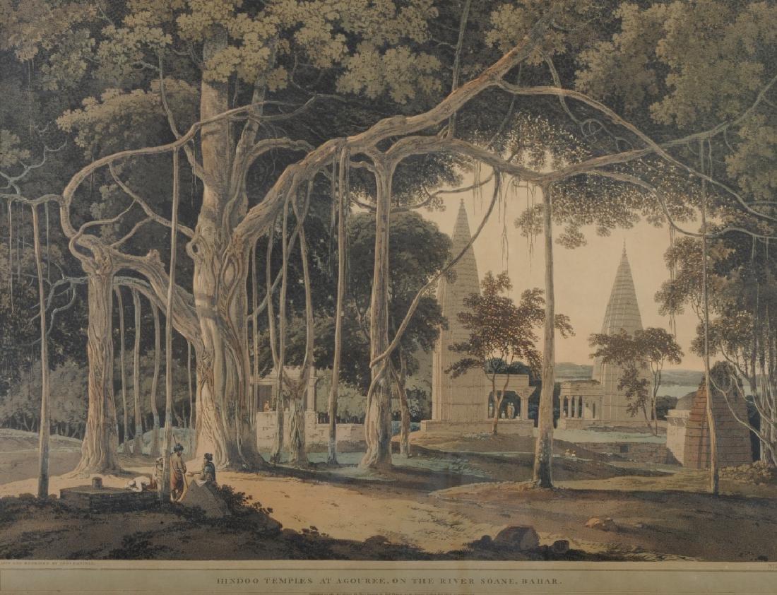 Antique Thomas Daniell Hindu Temple Aquatint Print