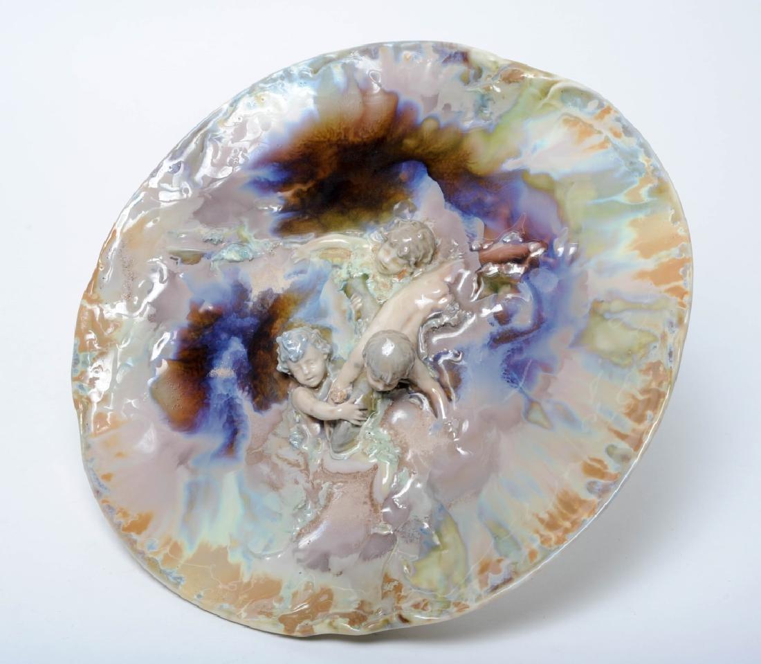 KPM Martin Fritzsche Figural Porcelain Plate RARE