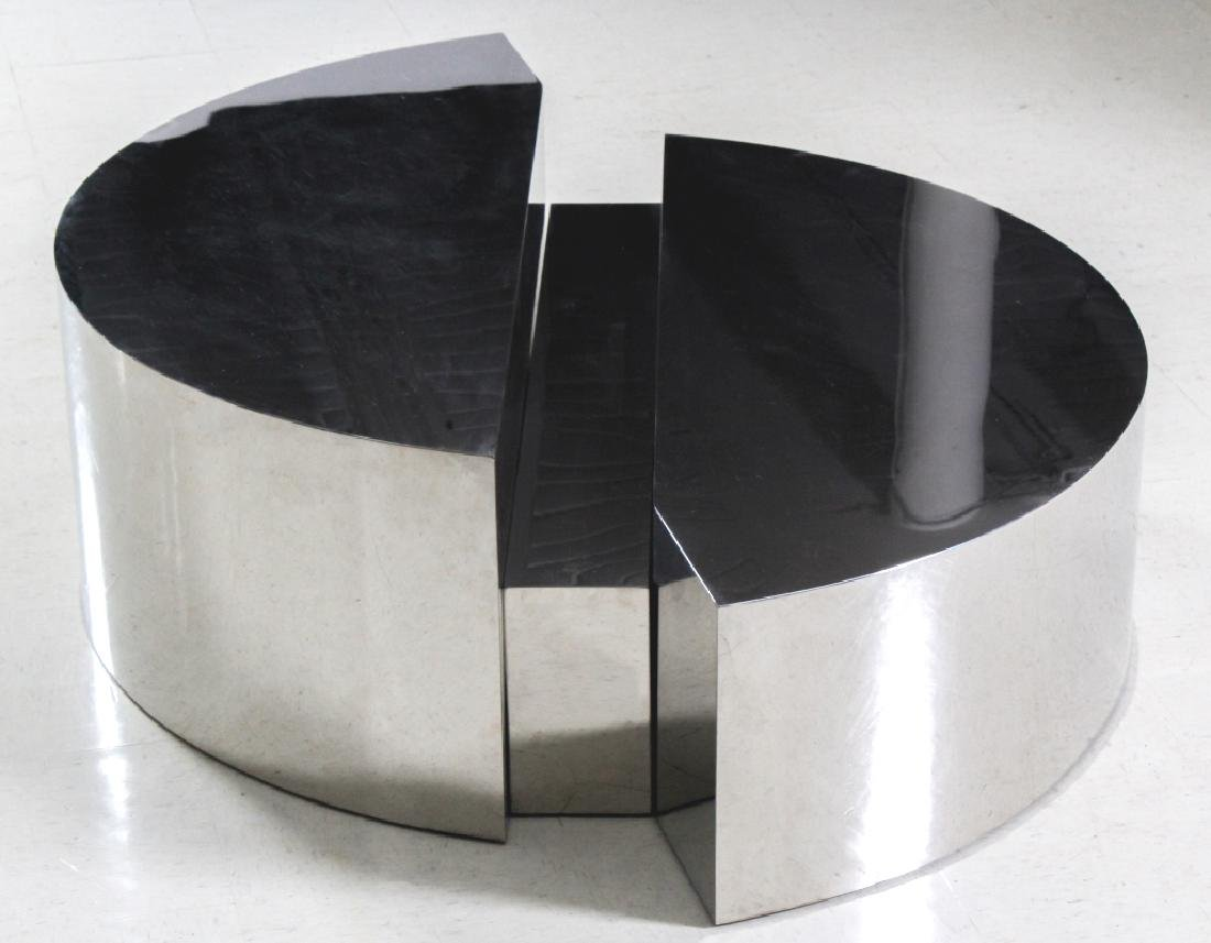 Paul Evans Era Modern Chromed Steel Cocktail Table