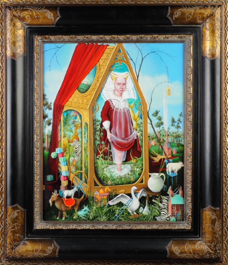 Heather Nevay 1965- Surrealist Oil Painting LISTED