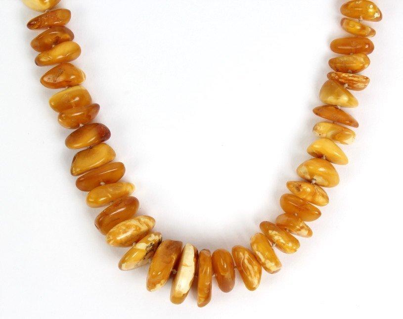Baltic Egg Yoke Butterscotch Amber Necklace 102g - 2