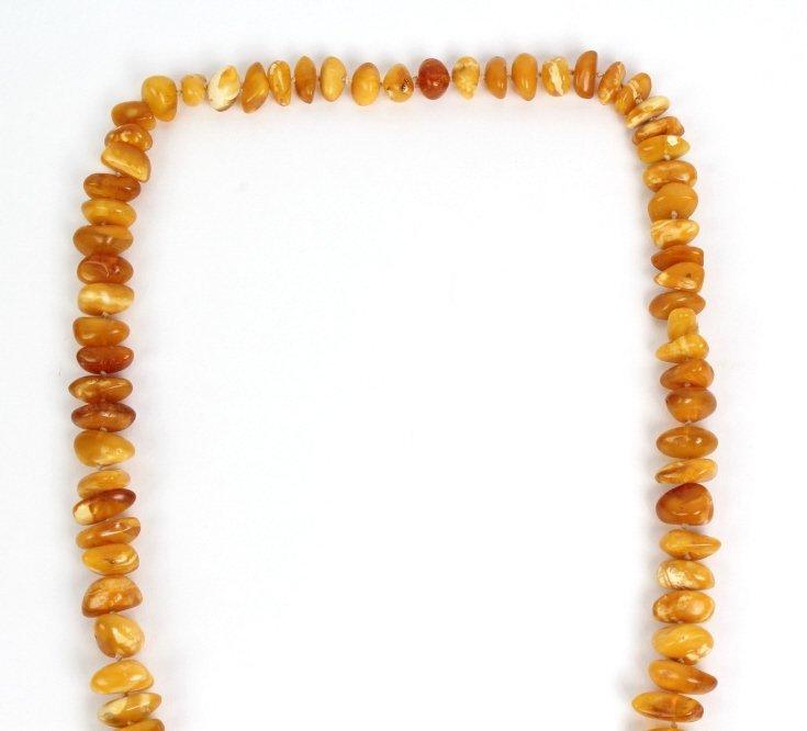 Baltic Egg Yoke Butterscotch Amber Necklace 102g - 3