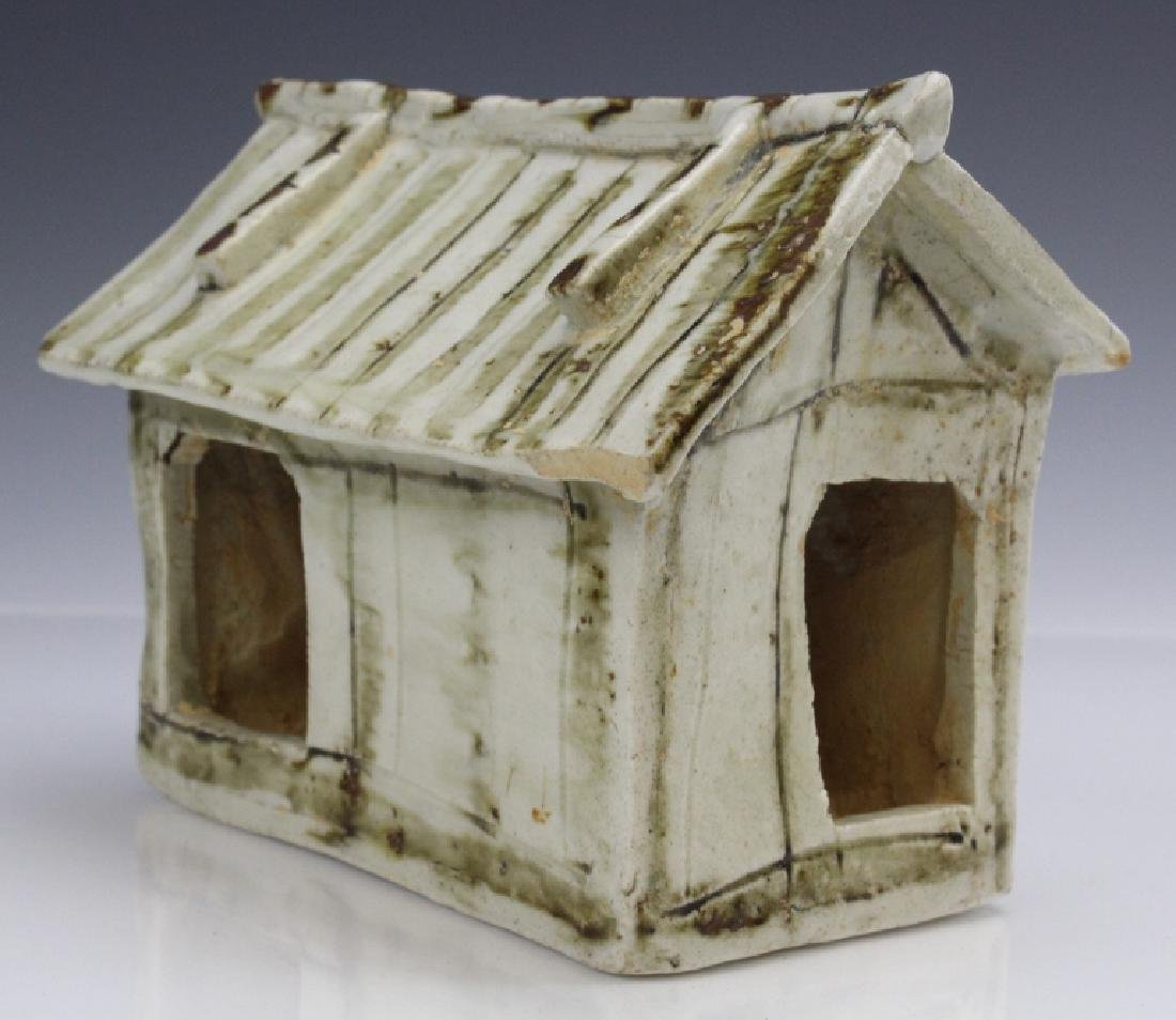 Antique Chinese Glazed Porcelain Figure Of House
