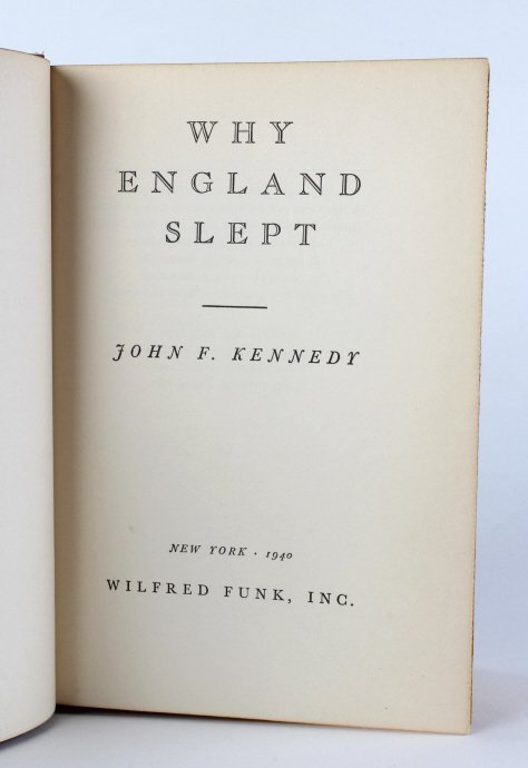 Signed John F Kennedy JFK Book Why England Slept - 6