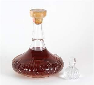 Sealed Baccarat Decanter w/ Wild Turkey Bourbon