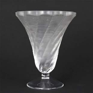 Lalique France Art Glass Crystal Spiral LUCIE Vase