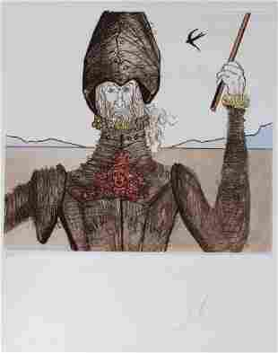 Salvador Dali DON QUIXOTE , DREAMER Etching SIGNED
