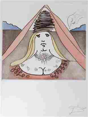 Salvador Dali LADY DULCINEA 166/300 Etching SIGNED