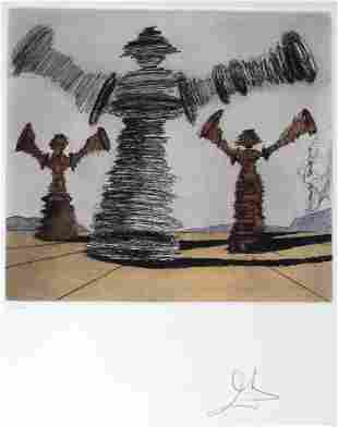 Salvador Dali THE SPINNING MAN L/E Etching SIGNED