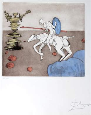Salvador Dali THE QUEST H/C Etching Arches SIGNED