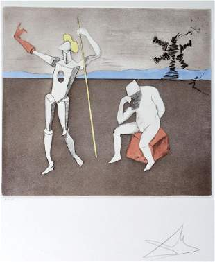 Salvador Dali POWER THOUGHT PP 1/5 Etching SIGNED