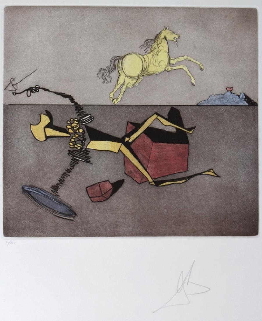 Salvador Dali ASPIRATION L/E Etching Arches SIGNED
