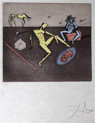Salvador Dali MIRROR OF CHIVALRY AP Etching SIGNED