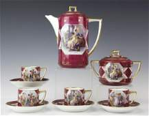 10pc Royal Vienna Style Hand Painted Tea Service