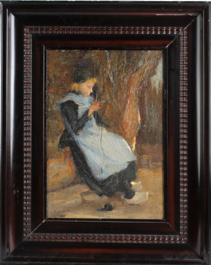S Kalech Dutch Impressionist Portrait Oil Painting