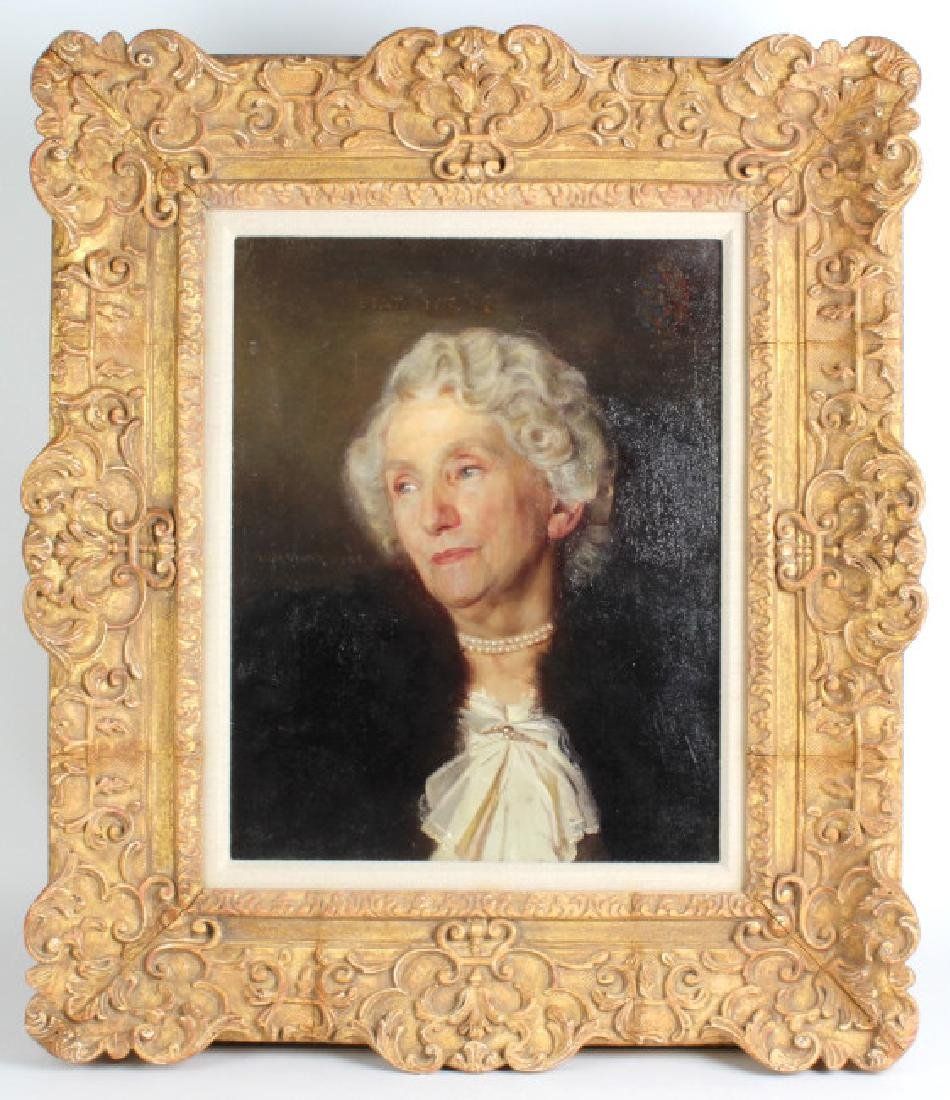FINE Woman in Pearls Dutch Portrait Oil Painting