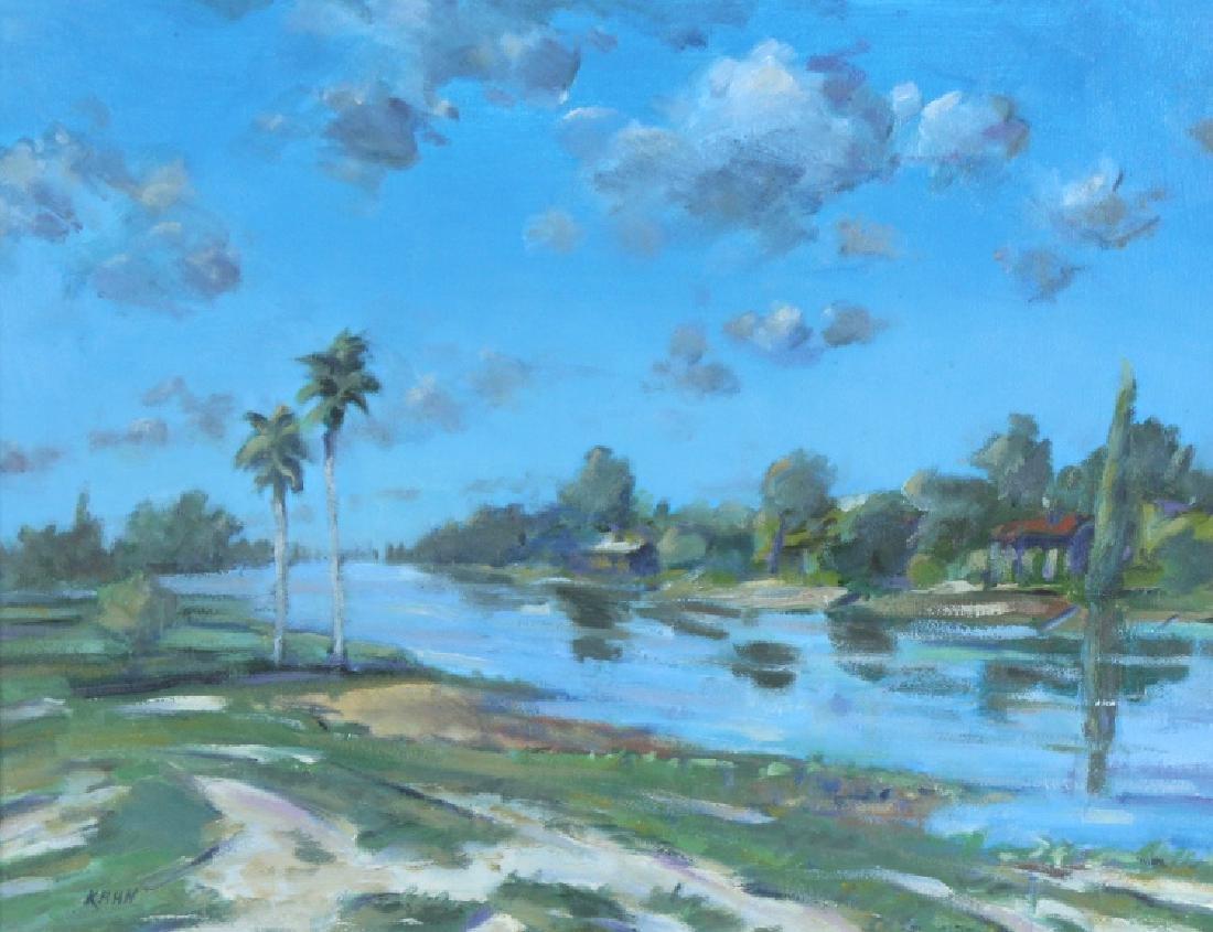 Kenneth Kahn Florida Landscape Oil Painting LISTED