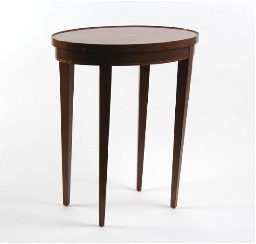Brilliant Signed Baker Furniture Shell Inlaid Mahogany Table Machost Co Dining Chair Design Ideas Machostcouk