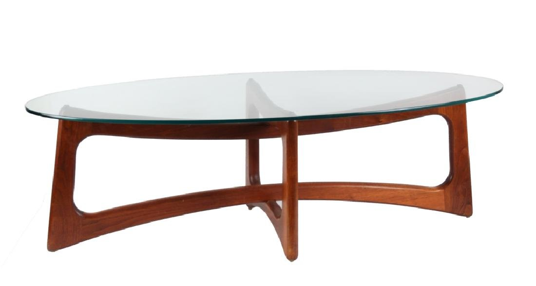 Adrian Pearsall Craft Associates Oval Coffee Table