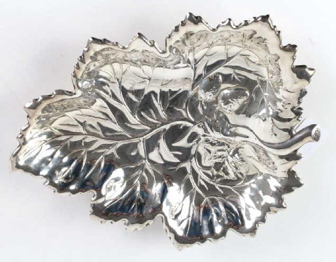 Wallace Sterling Silver Strawberry Leaf Fruit Dish