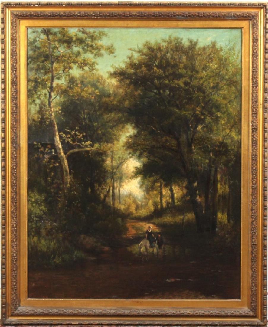 Large Hendrik-Dirk Kruseman Van Elten Oil Painting