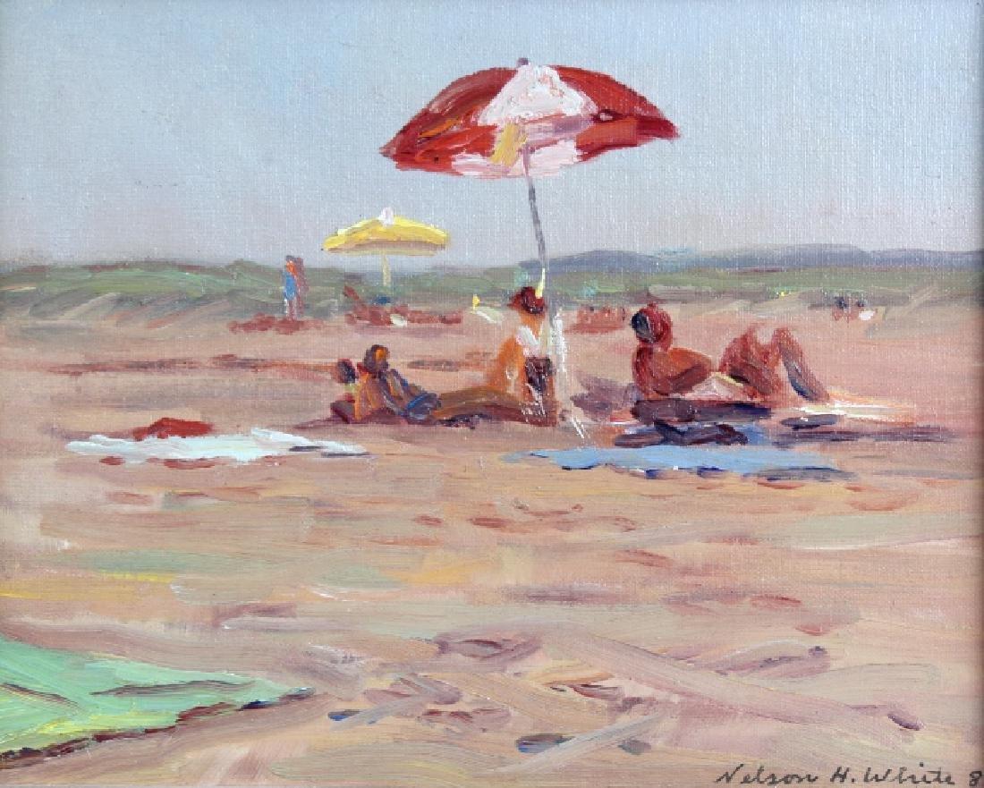 Nelson H White Jones Beach Long Island Painting