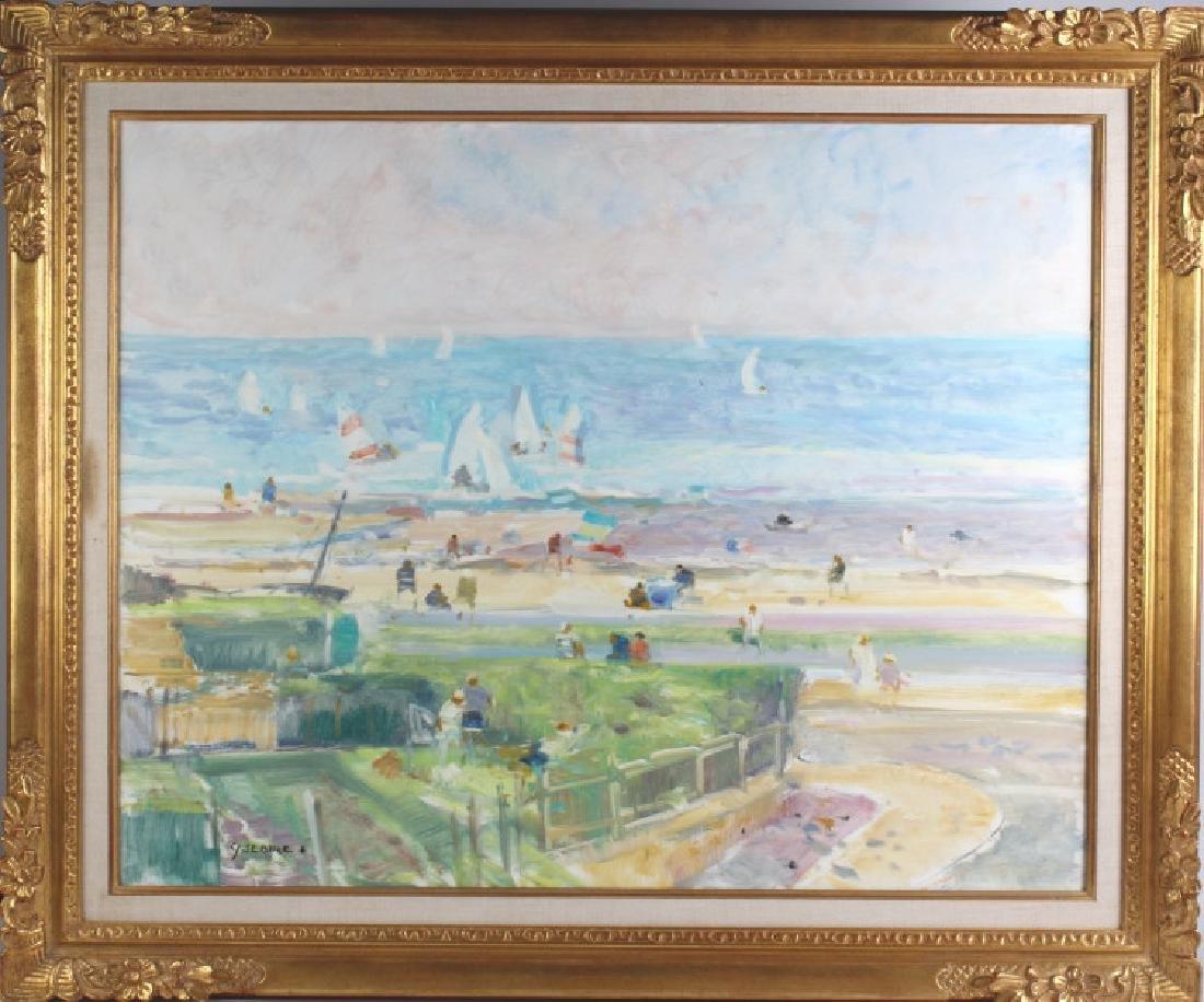 Gaston Sebire Impressionist Beach Painting LISTED