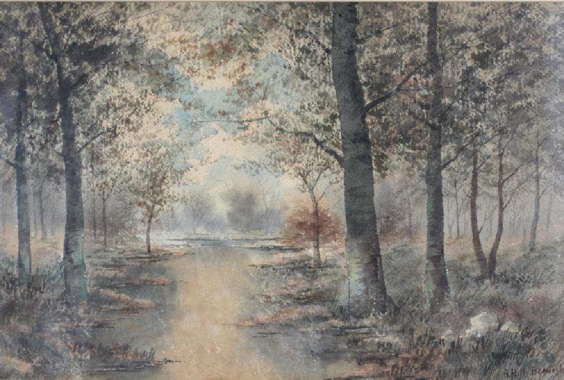 R Hills Bemish NY Watercolor Landscape Painting