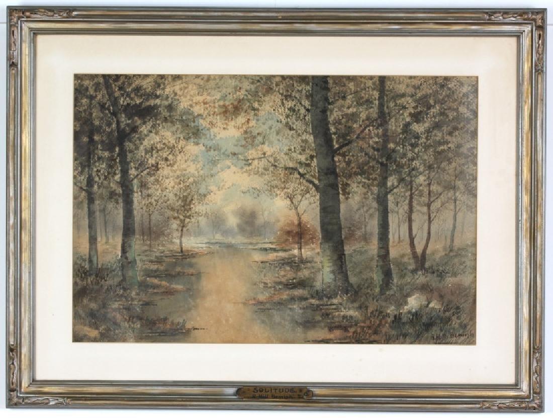 R Hills Bemish NY Watercolor Landscape Painting - 2