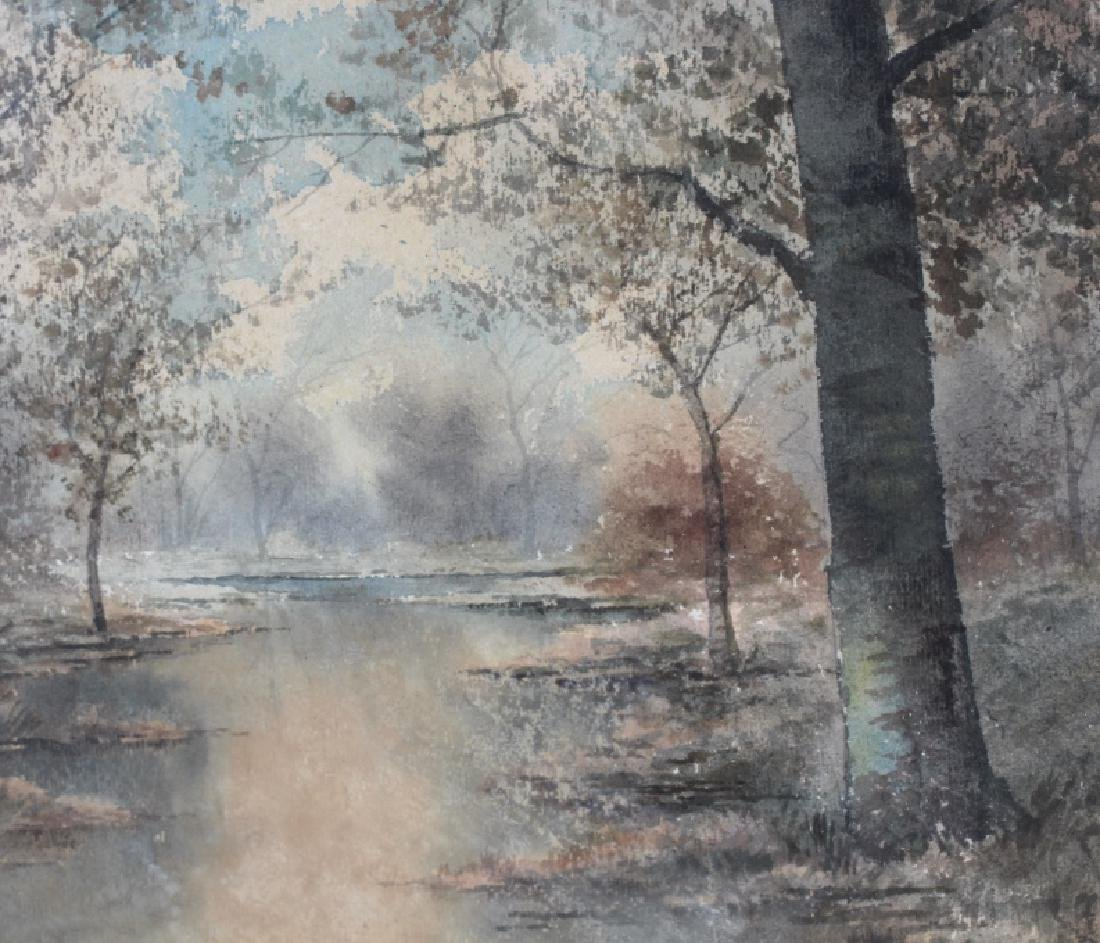 R Hills Bemish NY Watercolor Landscape Painting - 3