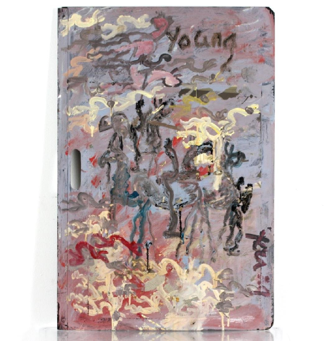 Purvis Young Battle Outsider Folk Art Painting
