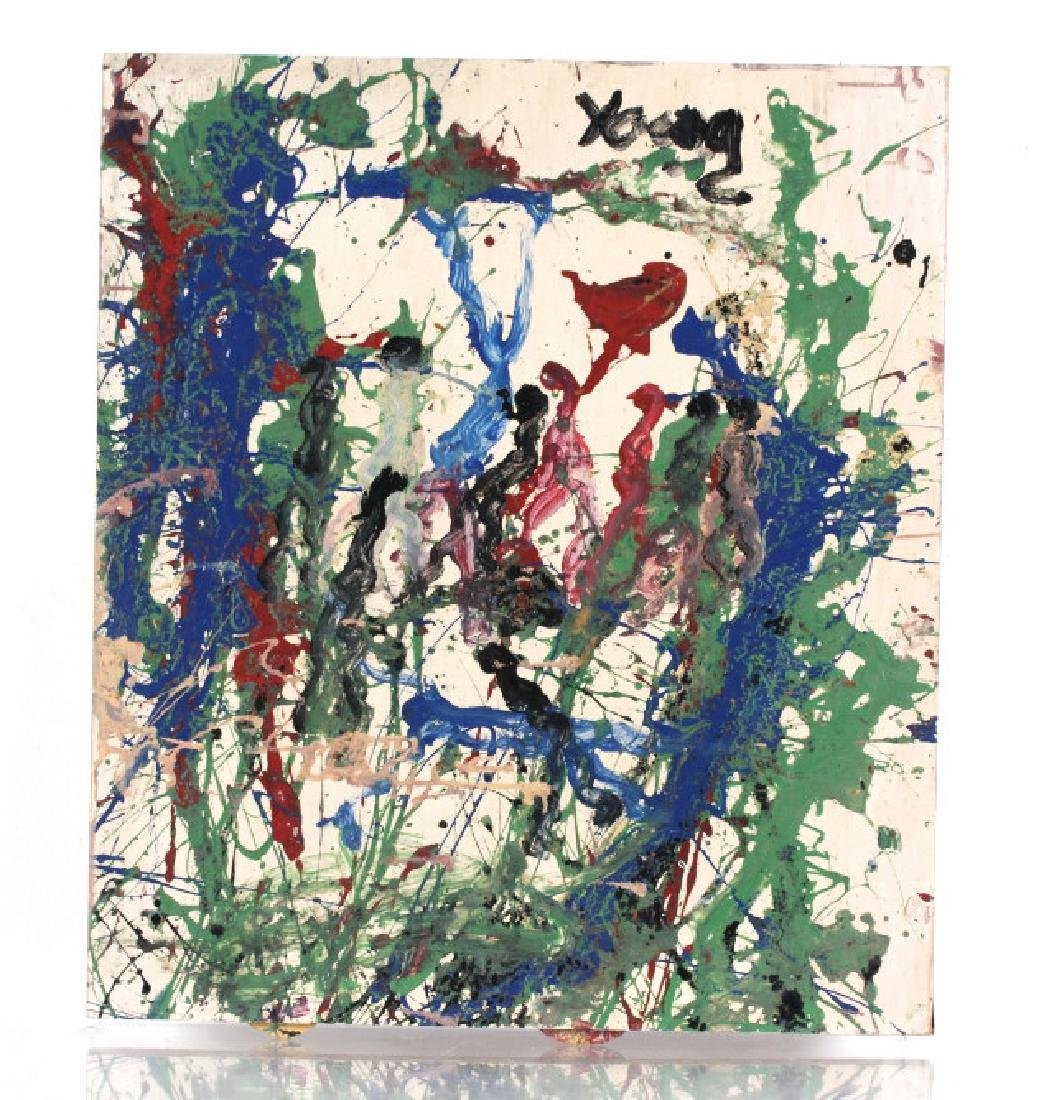 Purvis Young POLLACK WHO Outsider Art Painting