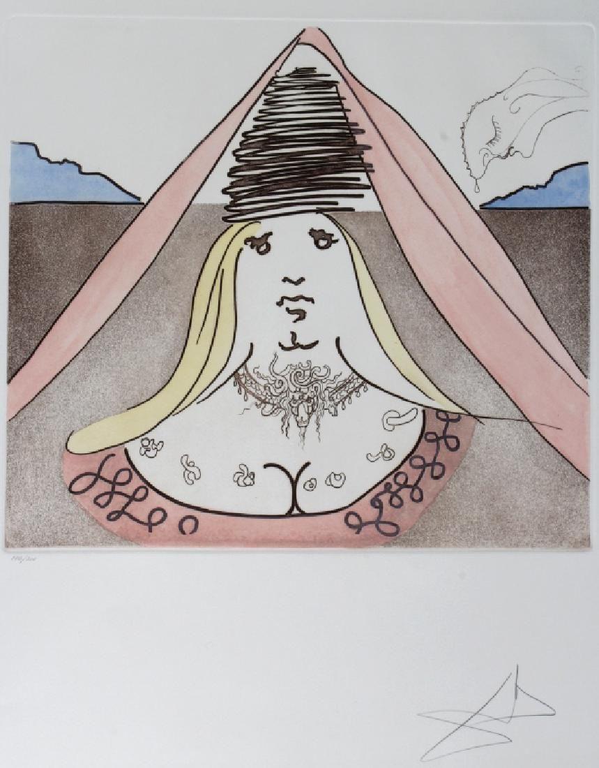Salvador Dali LADY DULCINEA Etching  Arches SIGNED