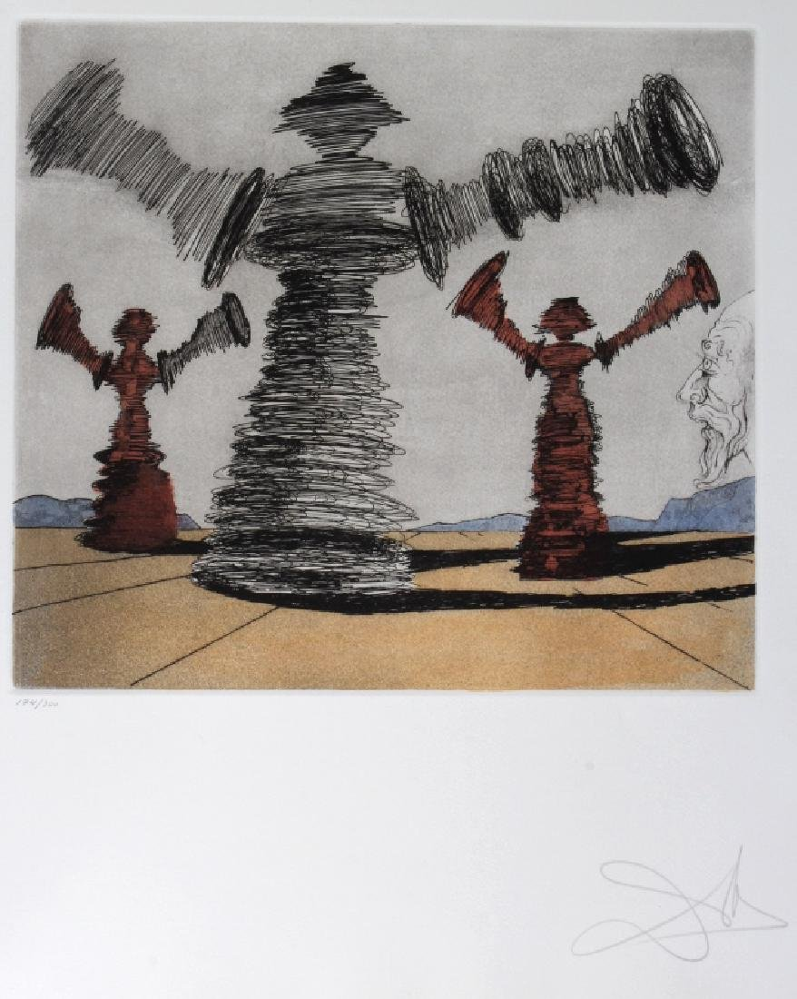 "Signed Salvador Dali ""SPINNING MAN"" Etching SIGNED"
