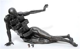 Salvador Dali Anthropomorphique Bronze Sculpture