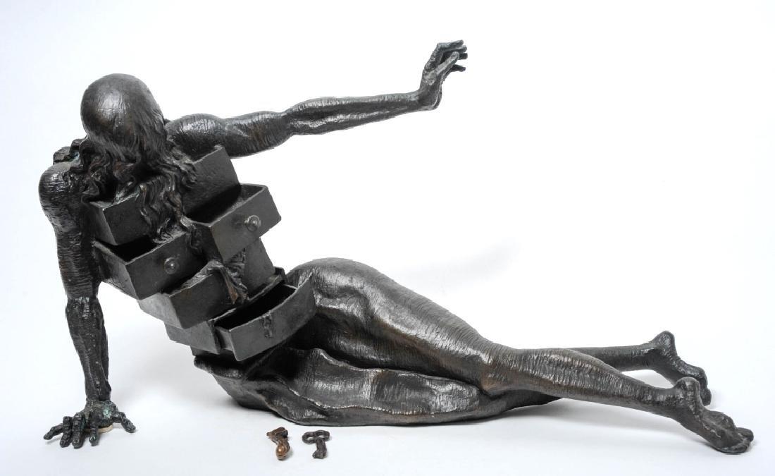 Salvador Dali Anthropomorphique Bronze Sculpture