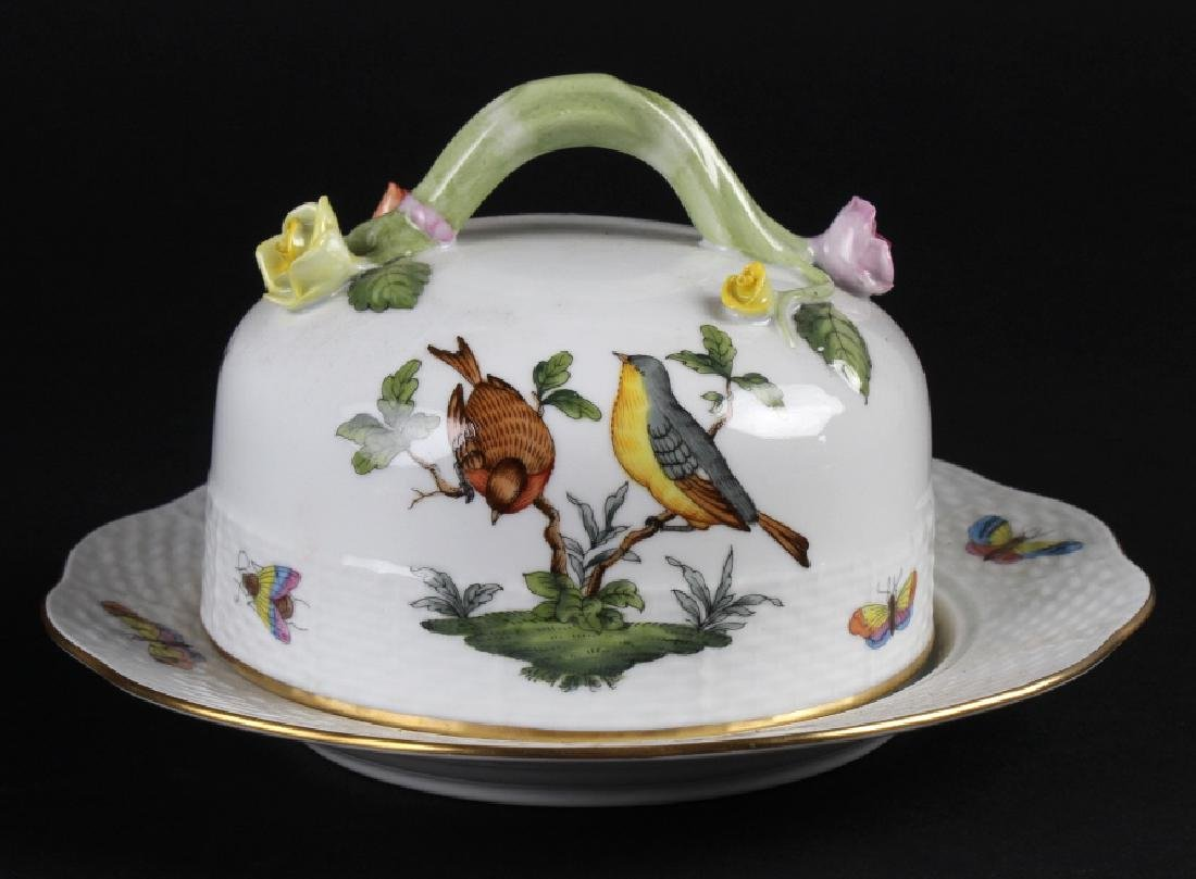Herend Rothschild Porcelain Covered Cheese Dish