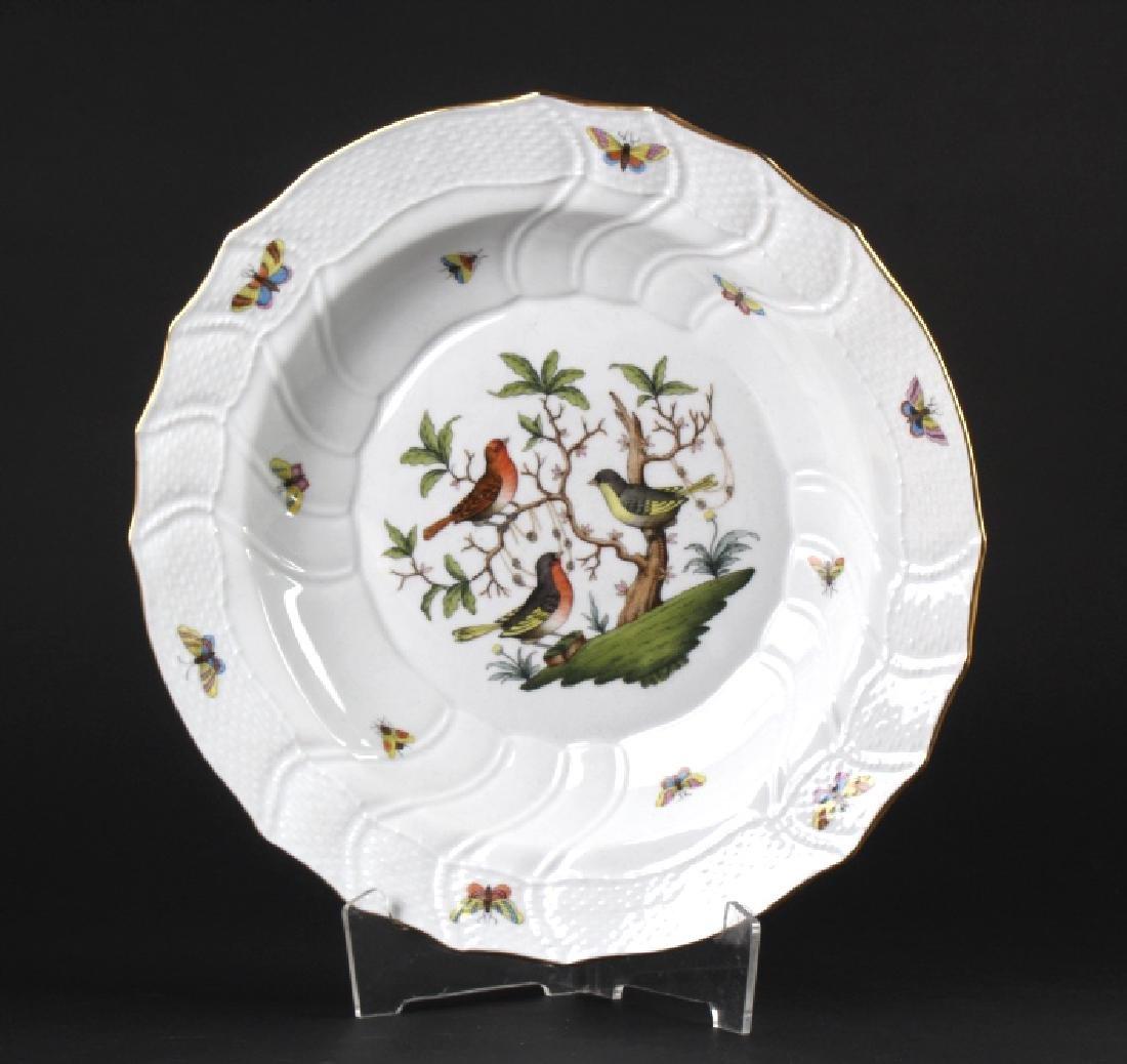 """Herend Rothschild Porcelain 12 1/4"""" Serving Bowl"""