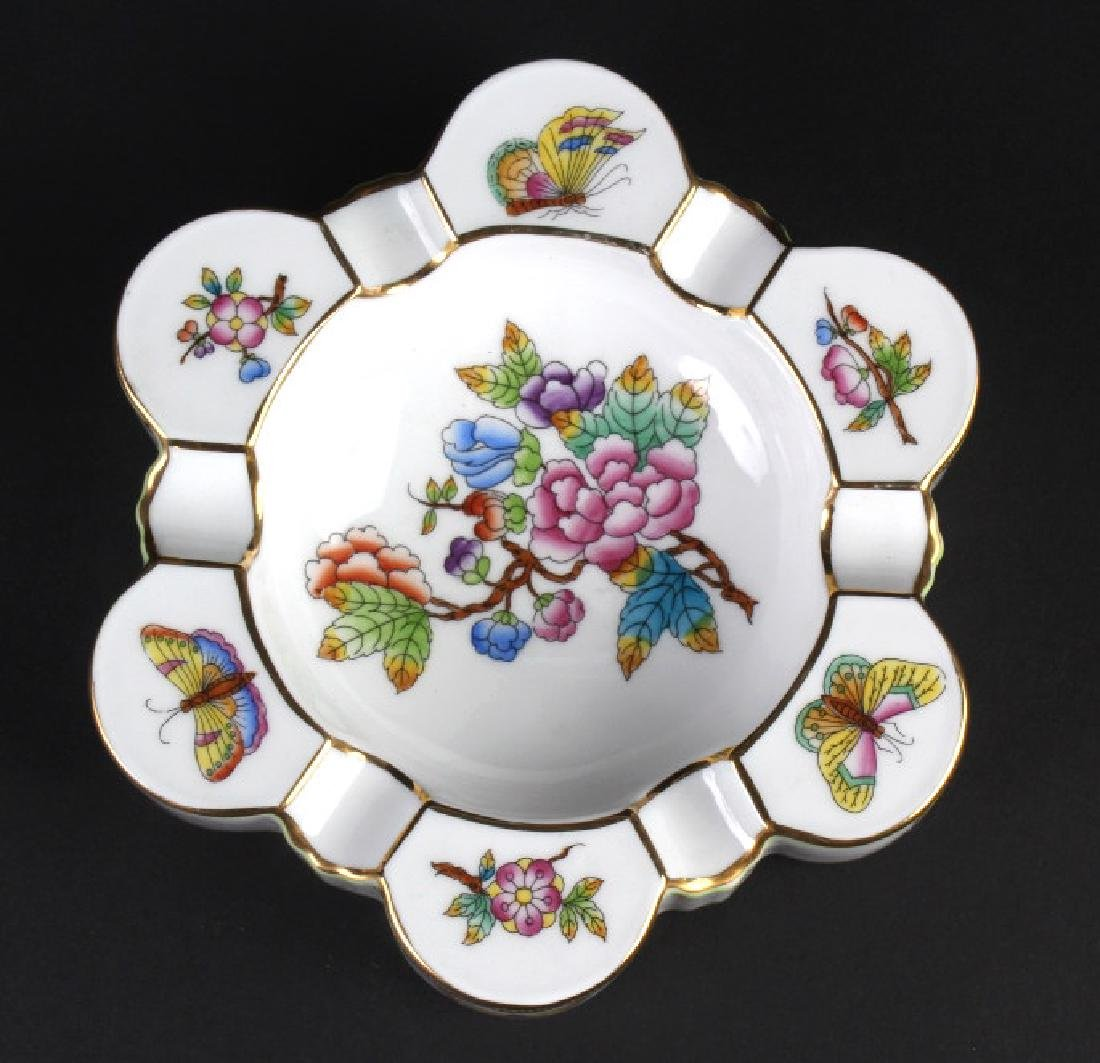 """Herend Queen Victoria Porcelain 6"""" Ashtray Dish"""