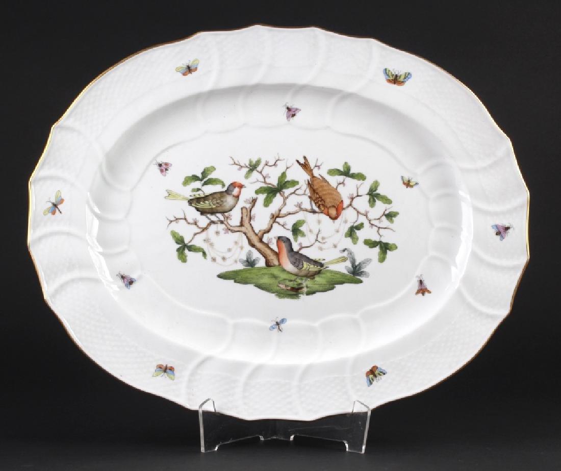 Herend Rothschild Porcelain Oval Serving Platter