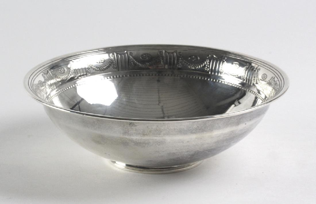 "Tiffany & Co Sterling Silver Footed 8"" Bowl 442gr."