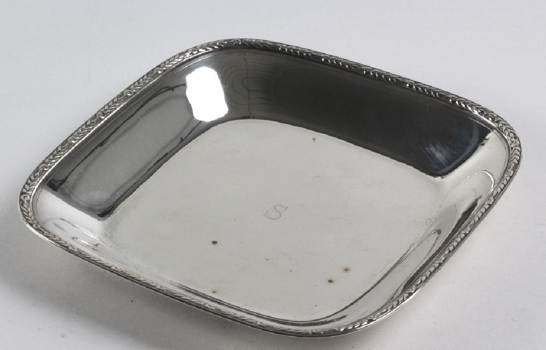 "Tiffany & Co Sterling Silver Square 9"" Bowl 436gr."